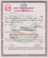 Certificate from Company Registrar Office  » Click to zoom ->