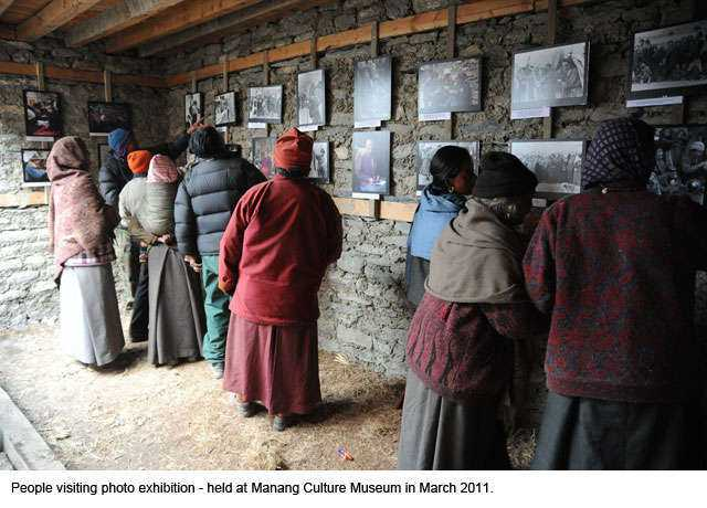 Three decades old portraits brought smiles in Manang