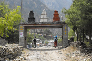 Trekking trails are being shortened due to road construction