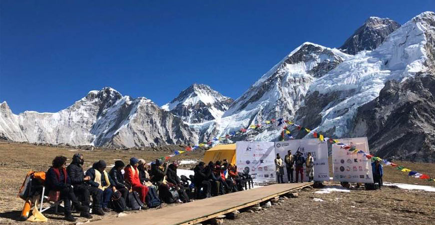 Mount Everest Fashion Runway sets world record