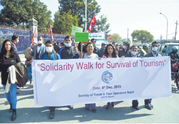 Solidarity rally for the Survival of Tourism in Nepal
